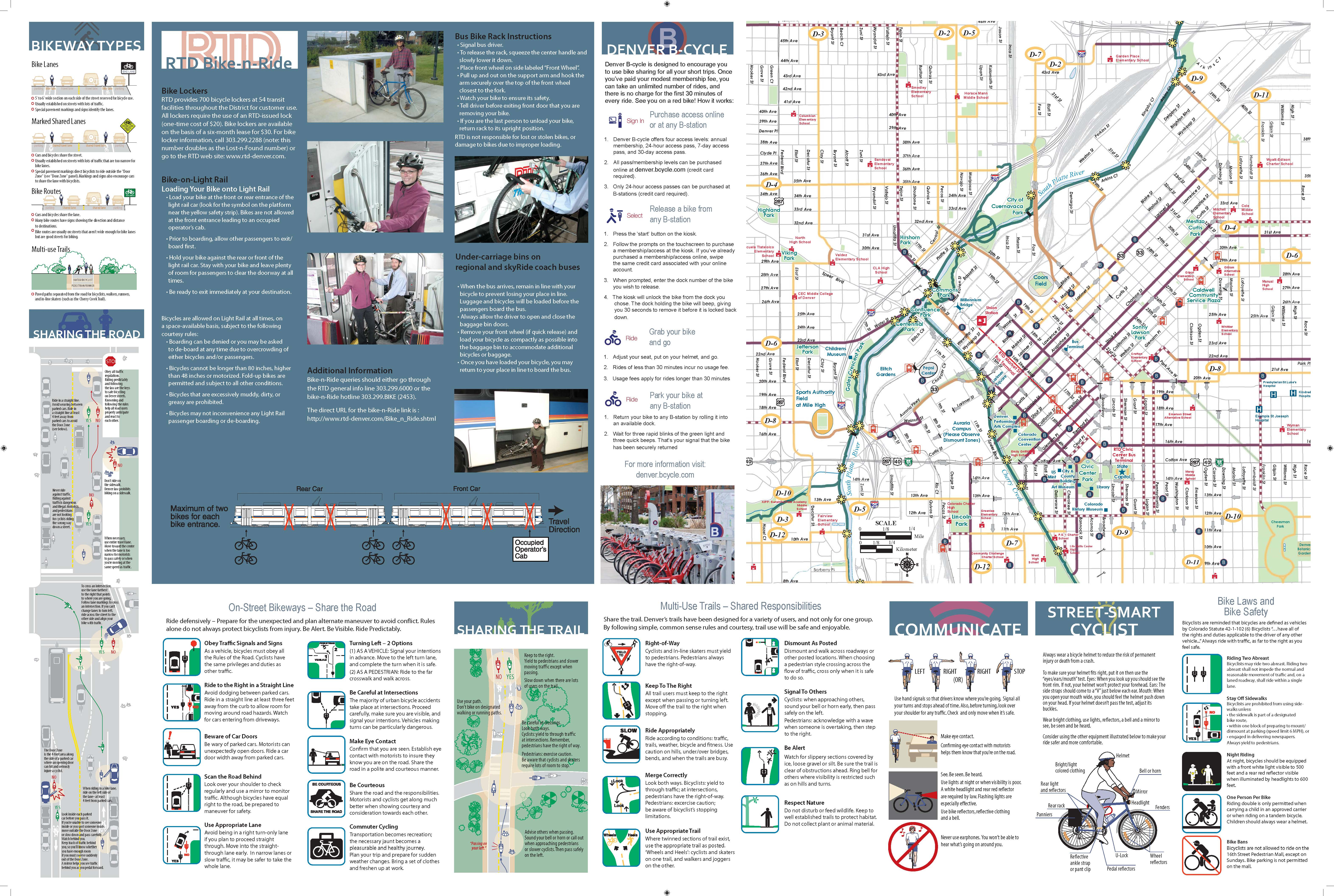 Denver Metro and Regional Bike Routes and safety information.